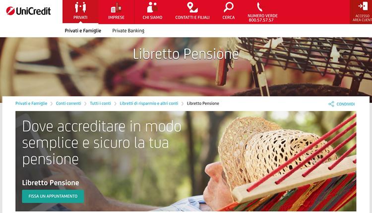 Libretto Pensione Unicredit